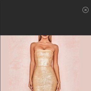 Gold house of cb dress M new no tags